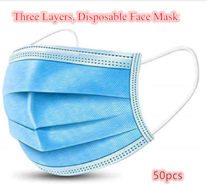 Disposable 200 PCS Filter 3-ply Face Mask